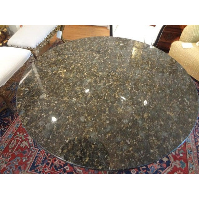 Italian Neoclassical Style Steel and Bronze Center Table After Giacometti For Sale - Image 10 of 13