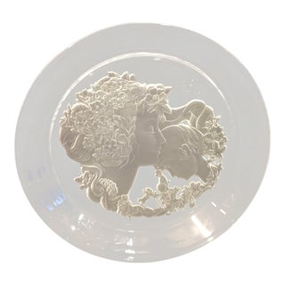 Luciana Roselli Art Nouveau Glass Plate