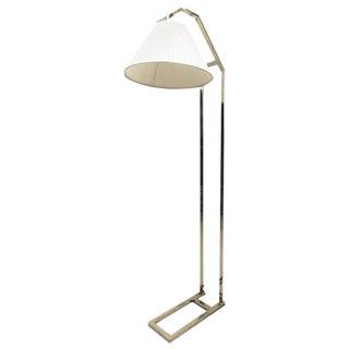 Elegant Contemporary Modern Brass Cantilever Floor Lamp For Sale