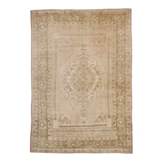 Vintage Turkish Oushak Rug with Muted Colors