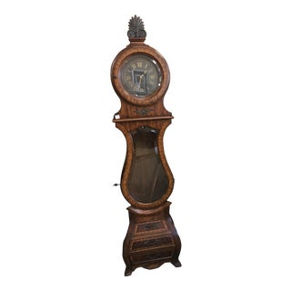 Late 20th Century Traditional Maitland Smith Long Mahogany Clock