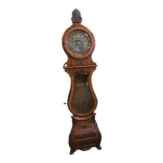 Late 20th Century Traditional Maitland Smith Long Mahogany Clock