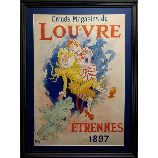 Grands Magasins Du Louvre -Original 1897 French Poster by Jules Cheret For Sale In Los Angeles - Image 6 of 11