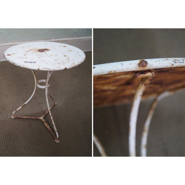 Antique French Iron Garden Table Set - Image 10 of 10