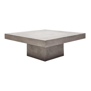 Una Square Coffee Table, Dark Grey For Sale