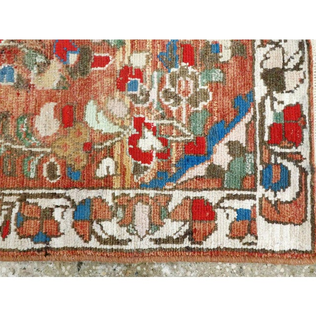 "Abstract Vintage Persian Hamadan Rug - Size: 2' 1"" X 3' 8"" For Sale - Image 3 of 9"