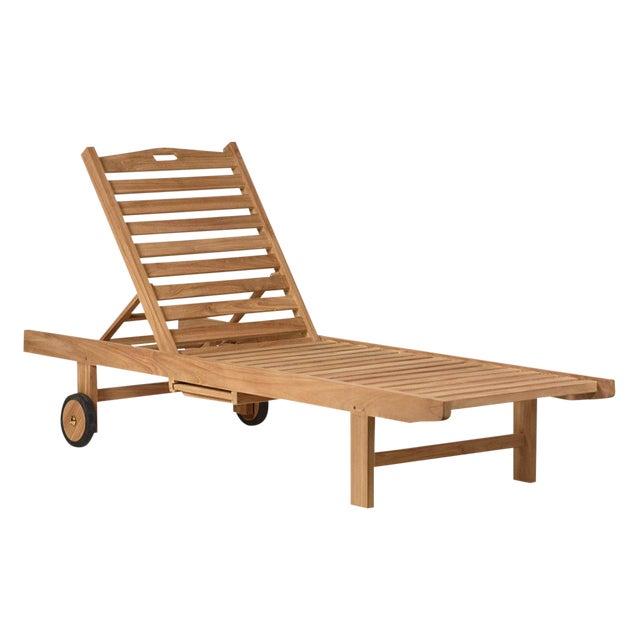 Teak Outdoor Reclining Lounge Chair Chairish