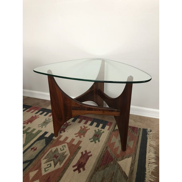 Brown Adrian Pearsall for Craft Associates Tripod Glass Top Side Table For Sale - Image 8 of 8