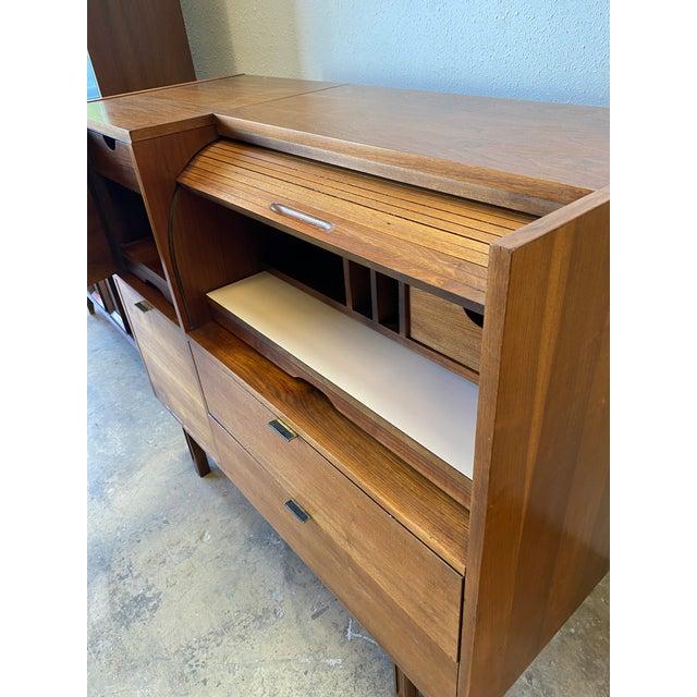 Mid Century Hooker for Mainline Secretary Roll Top Desk For Sale - Image 9 of 13