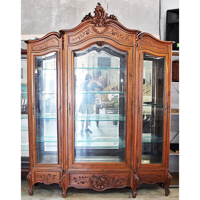 19th Century French Provincial 3-Door Armoire For Sale - Image 10 of 11