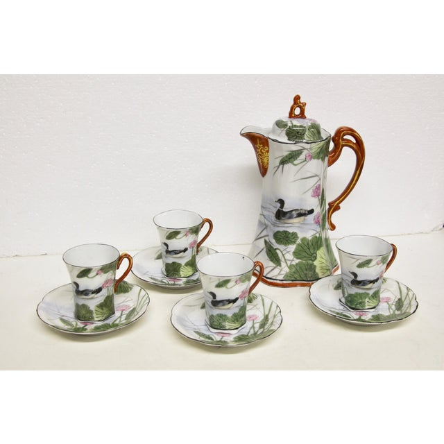 Japanese Porcelain Chocolate Set, 10 Pcs For Sale In Richmond - Image 6 of 6
