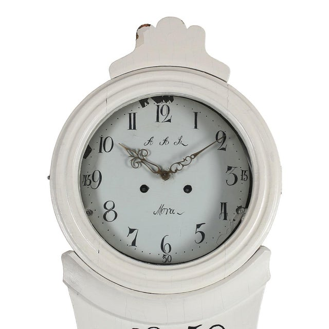 Antique Swedish Mora Clock For Sale - Image 4 of 5