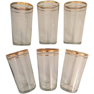 Vintage Glasses With Gold Rim Detail