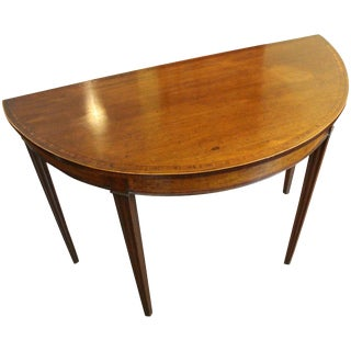 Georgian Demilune Console Table For Sale