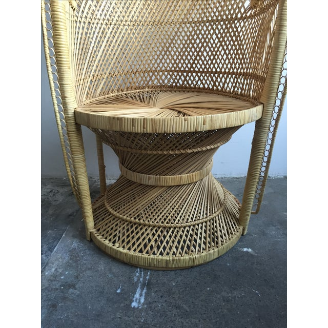 1970s Light Colored Peacock Chair - Image 4 of 6