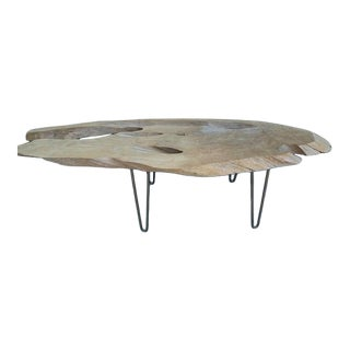 Vintage Live Edge Coffee Table For Sale