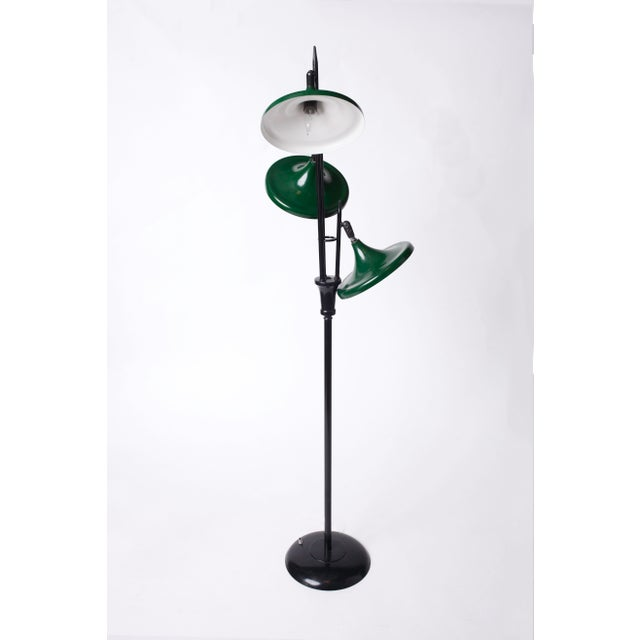 Mid-Century Modern 1950s Vintage Gerald Thurston for Lightolier Mid Century Modern Lacquered Metal Triennale Floor Lamp For Sale - Image 3 of 5