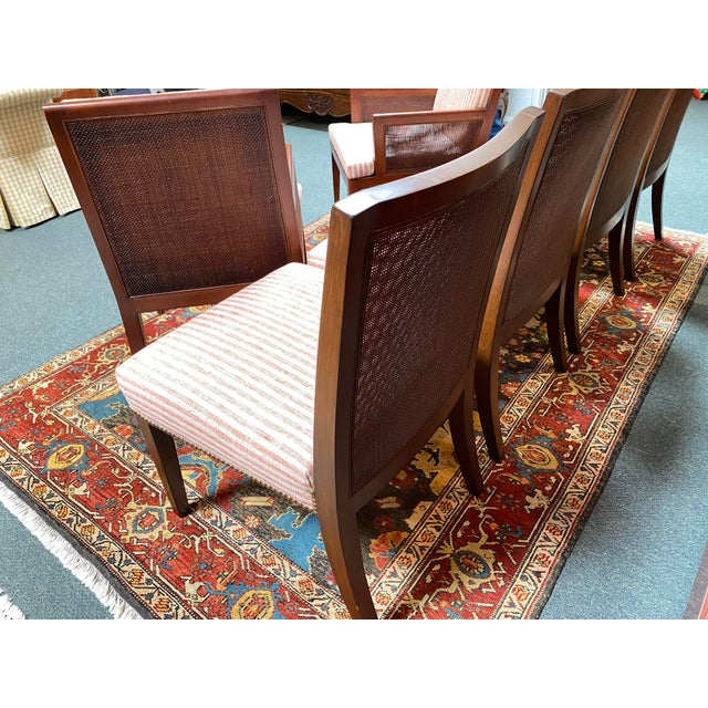 Jonathan Charles Regency Extension Table & Baker Furniture + Custom Chair Dining Set For Sale - Image 11 of 13