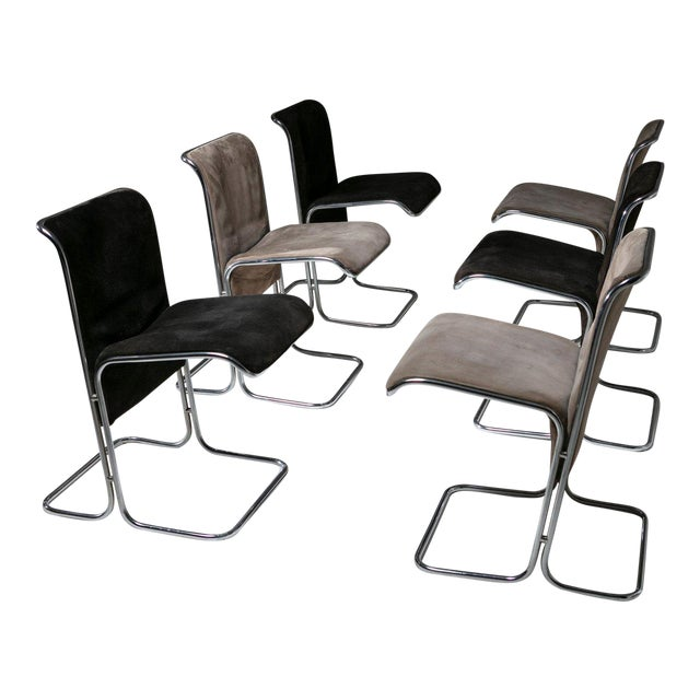 """Set of 6 """"Calla"""" Chairs by Antonio Ari Colombo for Arflex For Sale"""