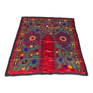Antique Silk Fabric Red Door Design For Sale