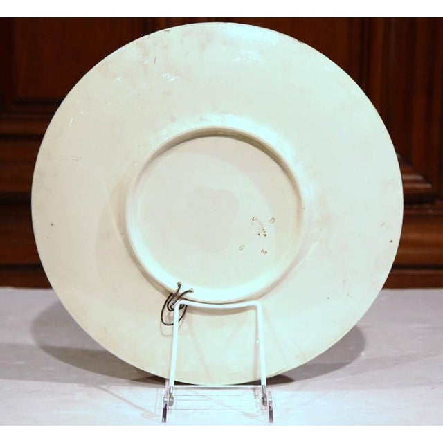 Late 19th Century French Barbotine Wall Platter For Sale - Image 9 of 10