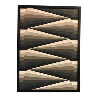 Framed Geometric Abstract Lithograph For Sale