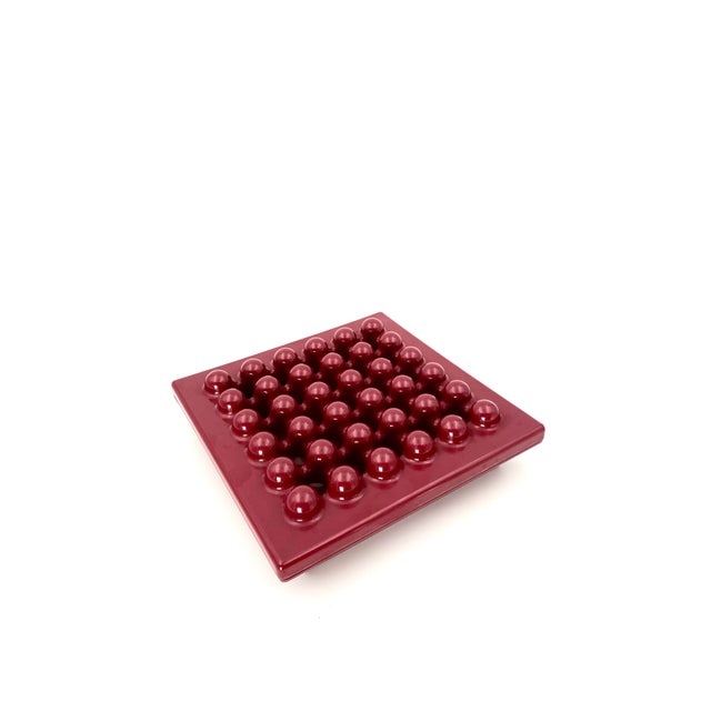 1971 Wine Red Ashtray by Ettore Sottsass for Olivetti Synthesis, Sistema 45 Series For Sale - Image 6 of 13