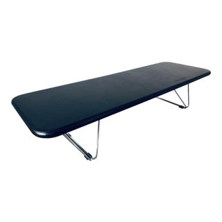 Ray Wilkes for Herman Miller Leather Coffee Table For Sale