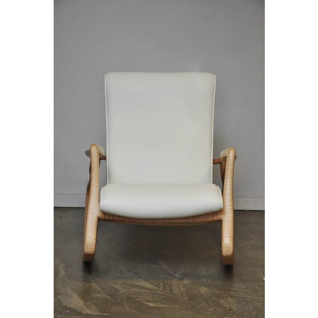 """Incredibly rare maple frame """"Erica Rocker"""" by Vladimir Kagan and Erica Wilson. Designed in 1953. This rare example dates..."""