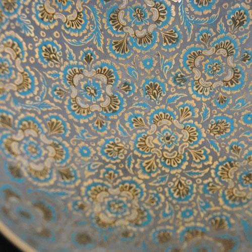 Set of Hand-Etched Enameled Brass Bowls - Image 2 of 6