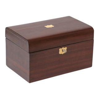 Antique Domed Rosewood Box, Lock & Key For Sale