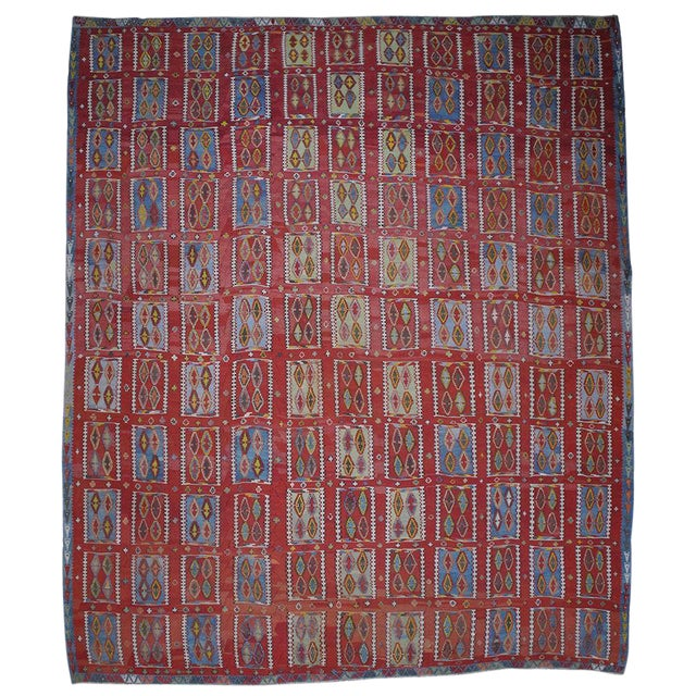Very Large and Exceptional Antique Sivas Kilim For Sale