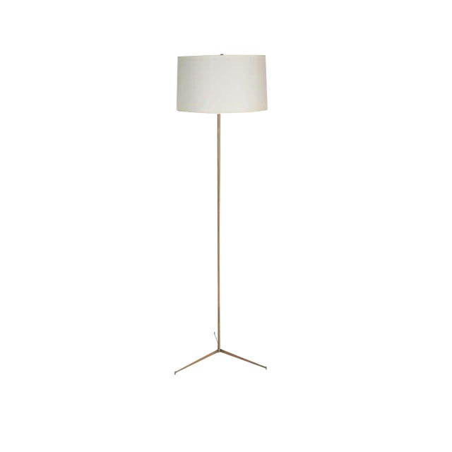 Customizable Anders Brass Tripod Floor Lamp For Sale