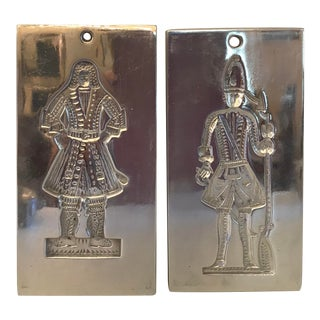 Vintage Gingerbread Metal Molds - a Pair For Sale