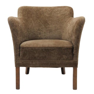 1940's Vintage Fritz Hansen Mohair Club Chair For Sale