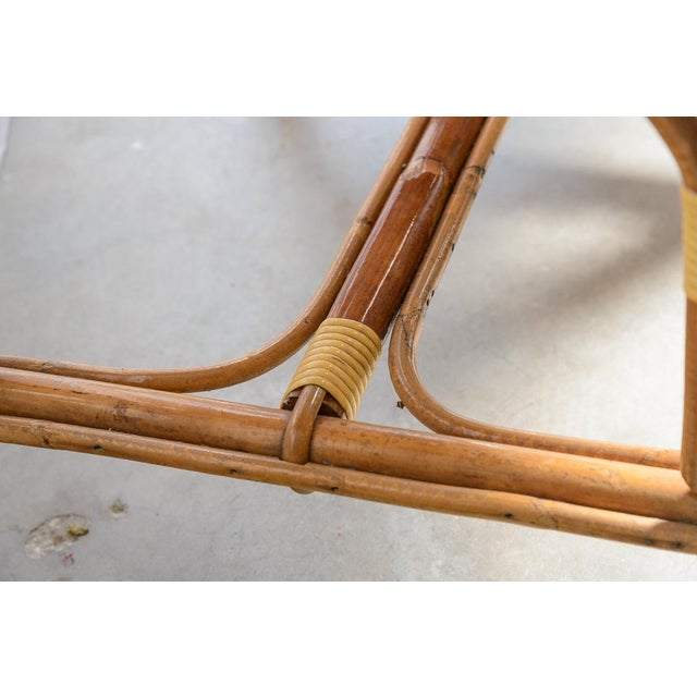 Wood 1970s Vintage French Maison Gatti Rattan and Bamboo Banquette Settee For Sale - Image 7 of 13