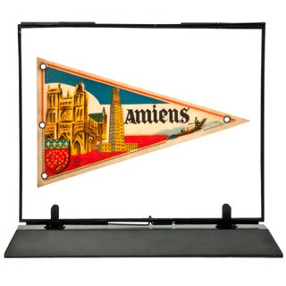 Framed Vintage French Amiens Pennant