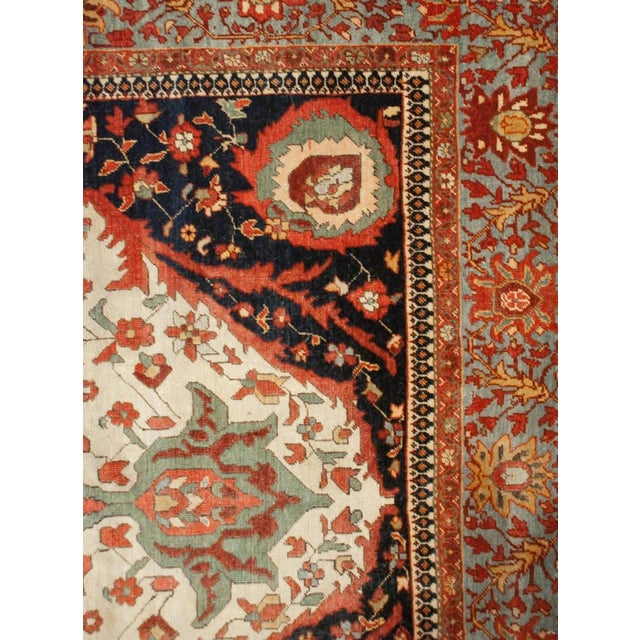 Mid 19th Century 19th Century Sarouk Farahan Rug - 4′2″ × 6′9″ For Sale - Image 5 of 5