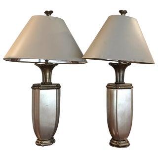 Vintage Chapman Metallic Lamps - a Pair For Sale