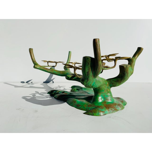 Brass Willy Daro Brass Bonsai Tree Coffee Table Base For Sale - Image 7 of 13