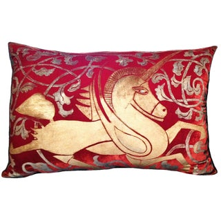 Unicorn Silk Velvet Pillow For Sale