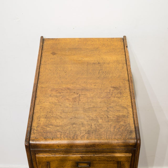 4 Drawer Oak File Cabinet C.1930 For Sale - Image 9 of 11