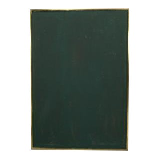Brass framed green leather bulletin board (20th Cent) For Sale
