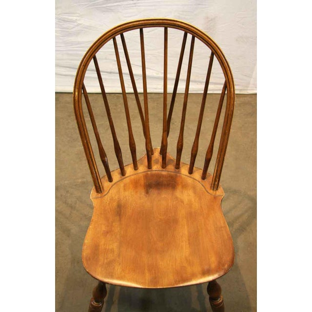 Wood Antique Windsor Wooden Chair For Sale - Image 7 of 7