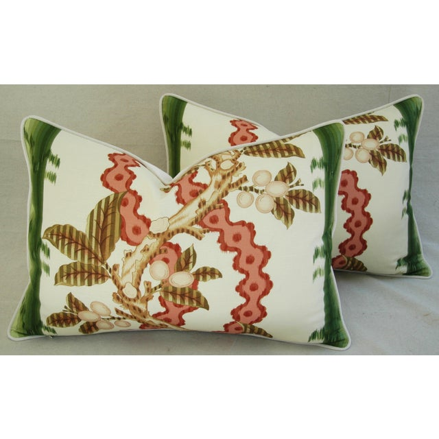 "Brunschwig & Fils Josselin Feather/Down Pillows 26"" X 18"" - Pair For Sale - Image 10 of 10"