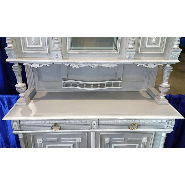 Antique French Painted Hutch For Sale In West Palm - Image 6 of 11