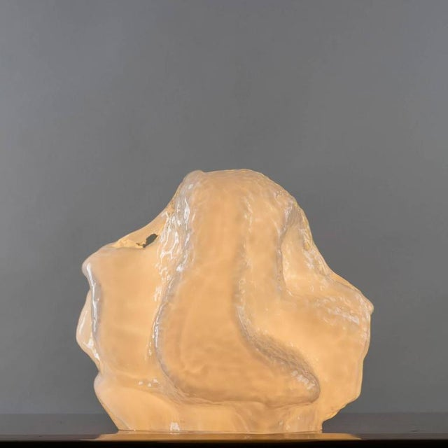 "Mazzega Murano ""Osso"" Murano Glass Table Lamp by Mazzega For Sale - Image 4 of 10"