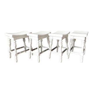 Stanley Furniture Counter Stools - Set of 4 For Sale