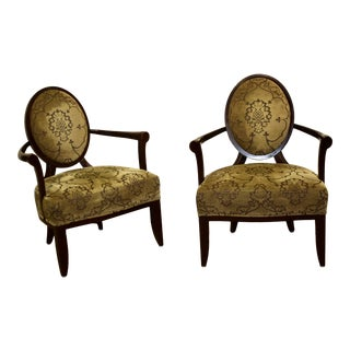 Barbara Barry for Baker Furniture Lounge Chairs - a Pair For Sale
