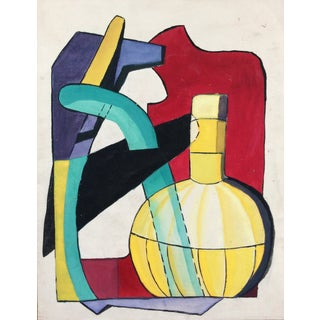Mid-Century Modern Painting on Paper 1950s For Sale